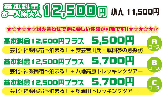 芸北・神楽民宿へ泊まる!・値段