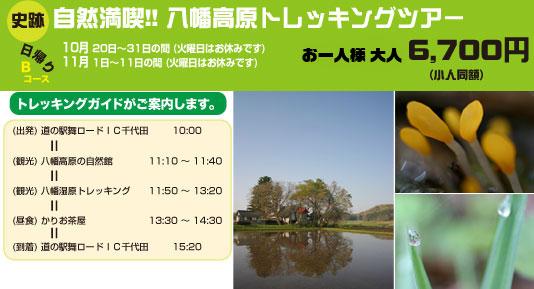 自然満喫!! 八幡高原トレッキングツアー・グリンツーリズム